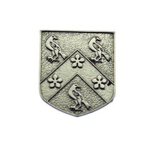 Silver Coat of Arms Crest Brooch